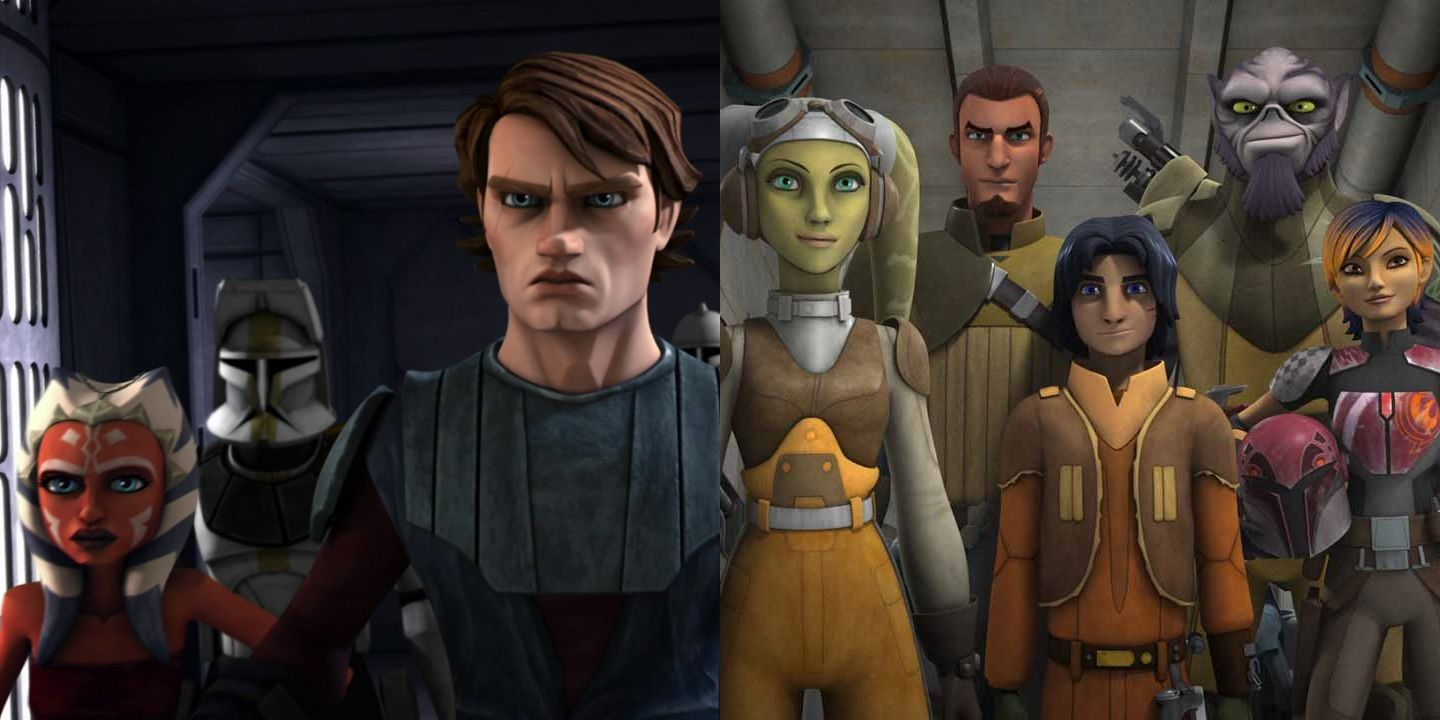 Image result for the clone wars and rebels