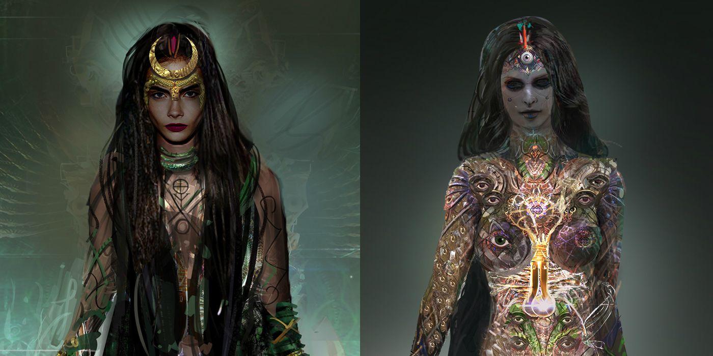Suicide Squad Concept Art Reveals Alternate Enchantress Harley