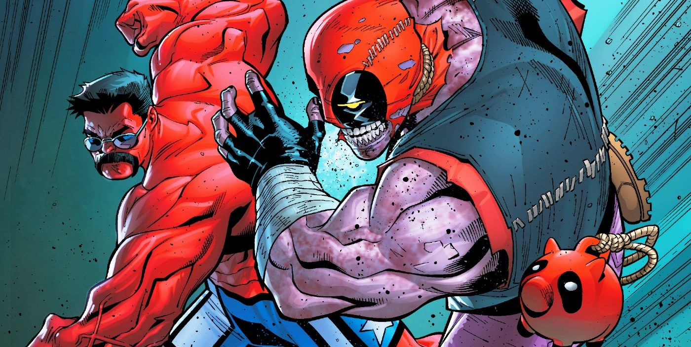 Deadpool just hulked out on red hulk himself screenrant - Pictures of red hulk ...
