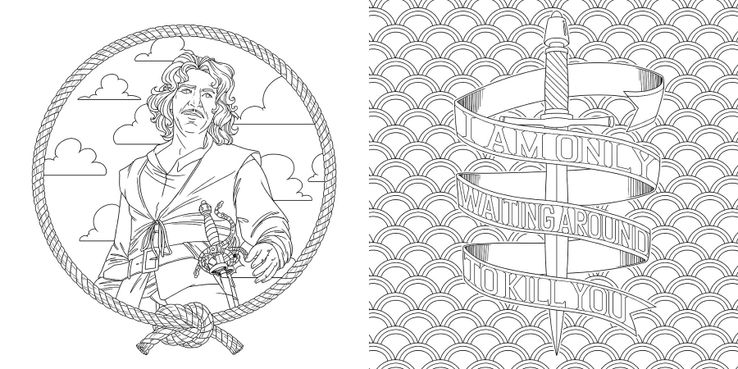 The Princess Bride S 2nd Coloring Book Pages Screenrant