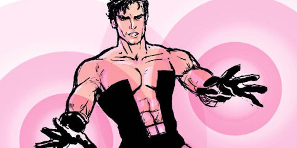 Ripped superhero costume shirtless