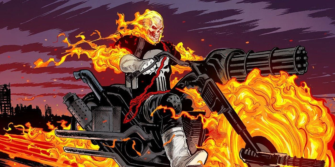 marvel's cosmic ghost rider sends punisher into space