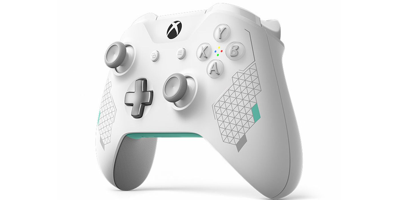 Xbox Unveils Diamond Grip Sport White Controller   ScreenRant  Xbox Unveils Di...