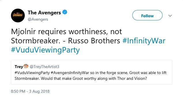 Infinity War: Groot Lifting Thor's Stormbreaker Axe Explained