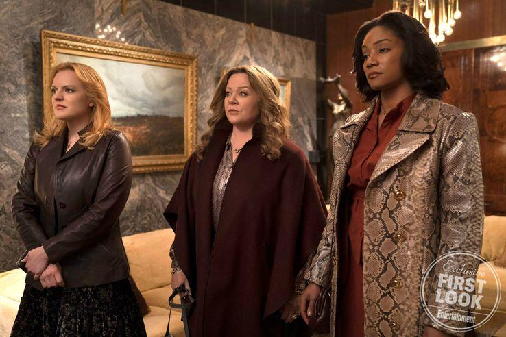 Elisabeth Moss, Melissa McCarthy e Tiffany Haddish em The Kitchen