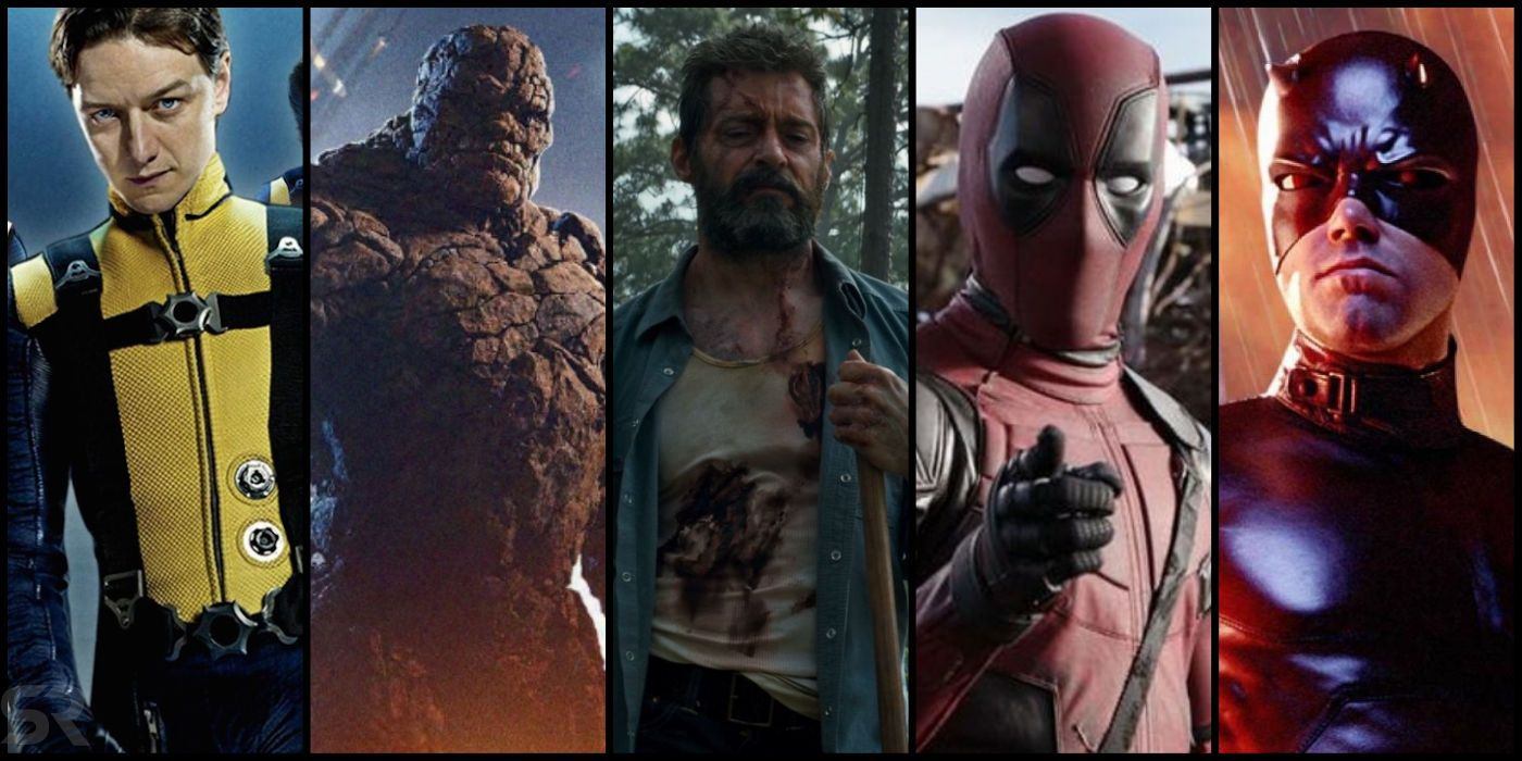 254de6a26c1 Every Fox Marvel & X-Men Movie Ranked, From Worst To Best