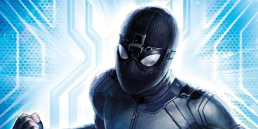 Spider-Man's Stealth Suit & Mysterio Featured in Far From Home Toy Art