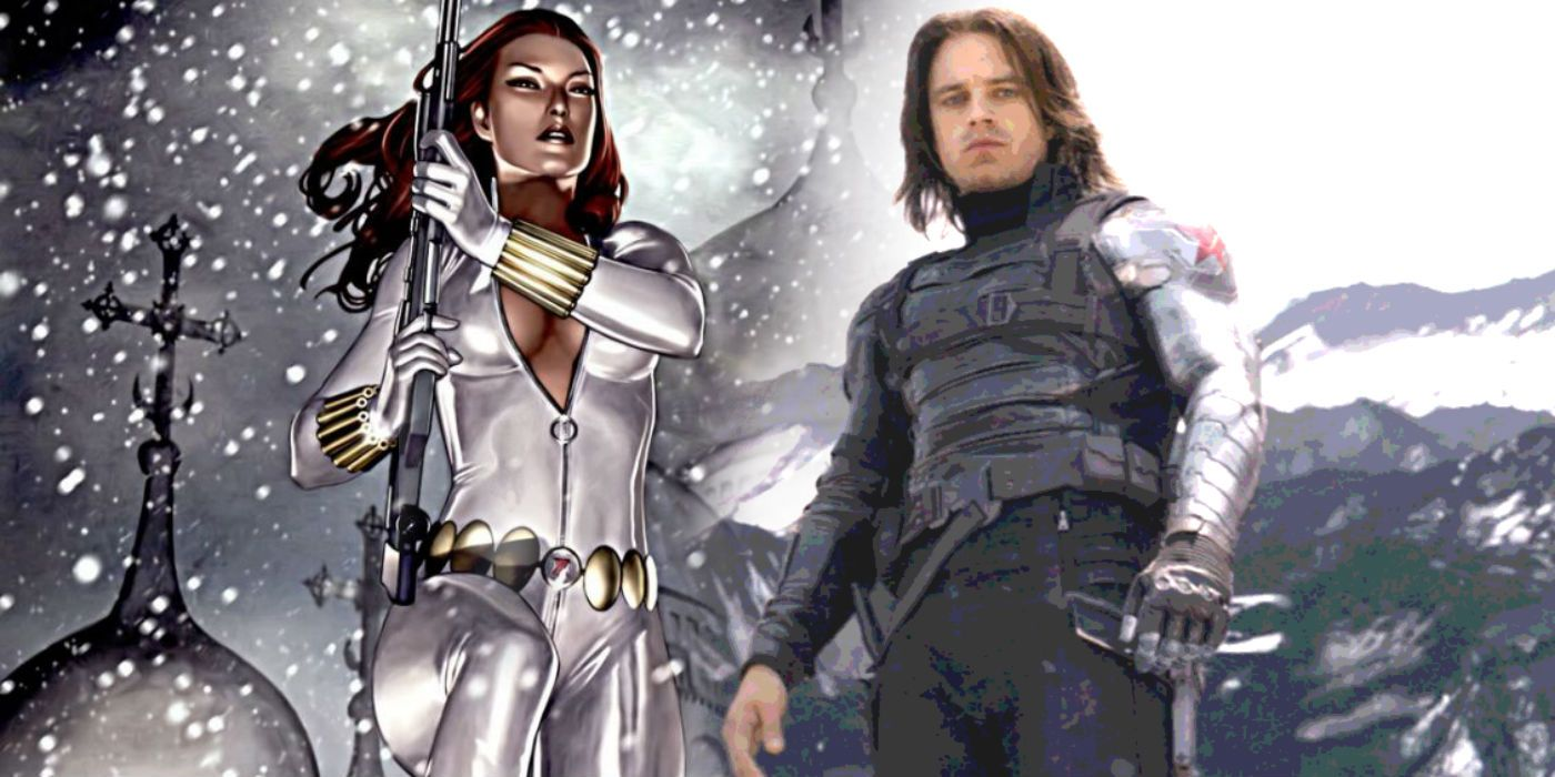 Black Widow S White Costume Teases Winter Soldier Appearance