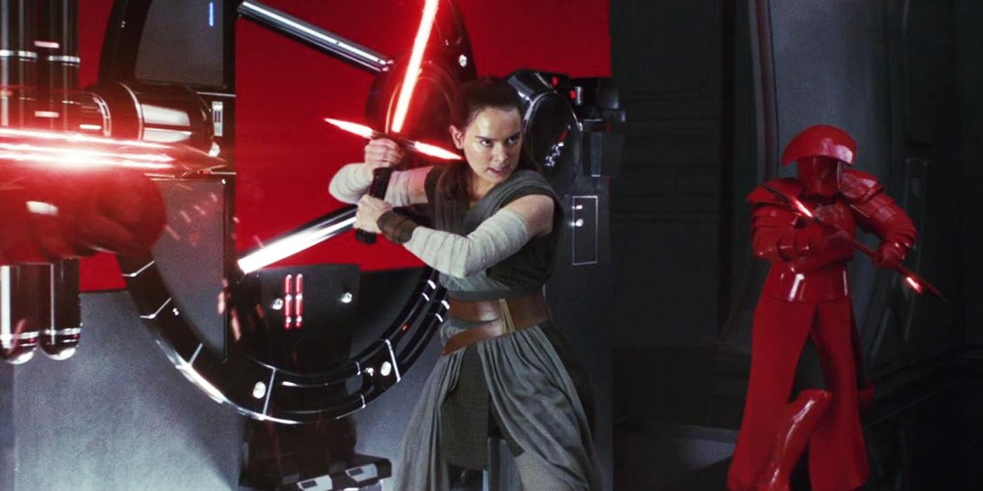 Rey Wields Double-Bladed Red Lightsaber In Star Wars 9