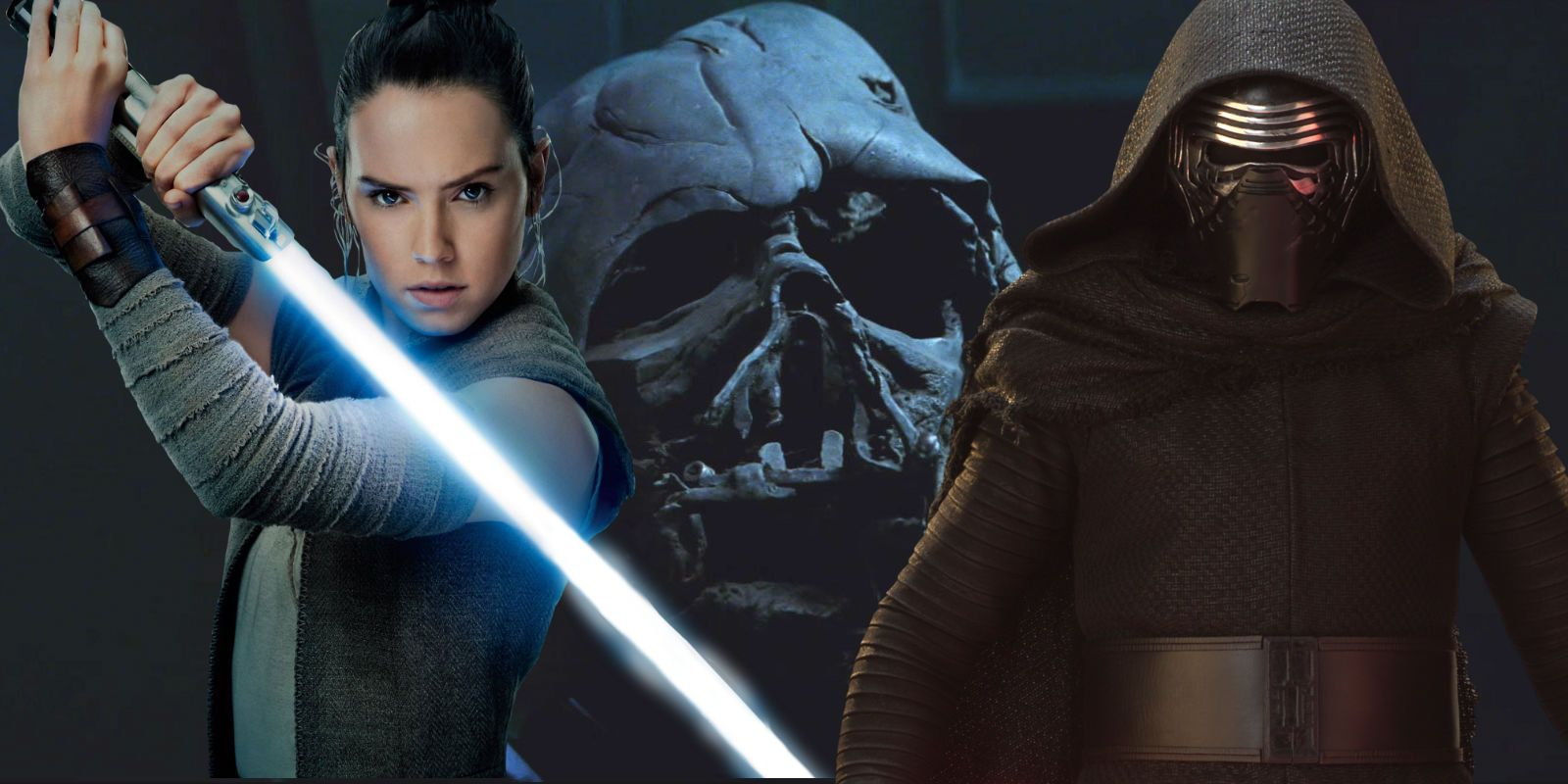 Star Wars 9 Theory Rey Kylo Destroy Vader S Mask To