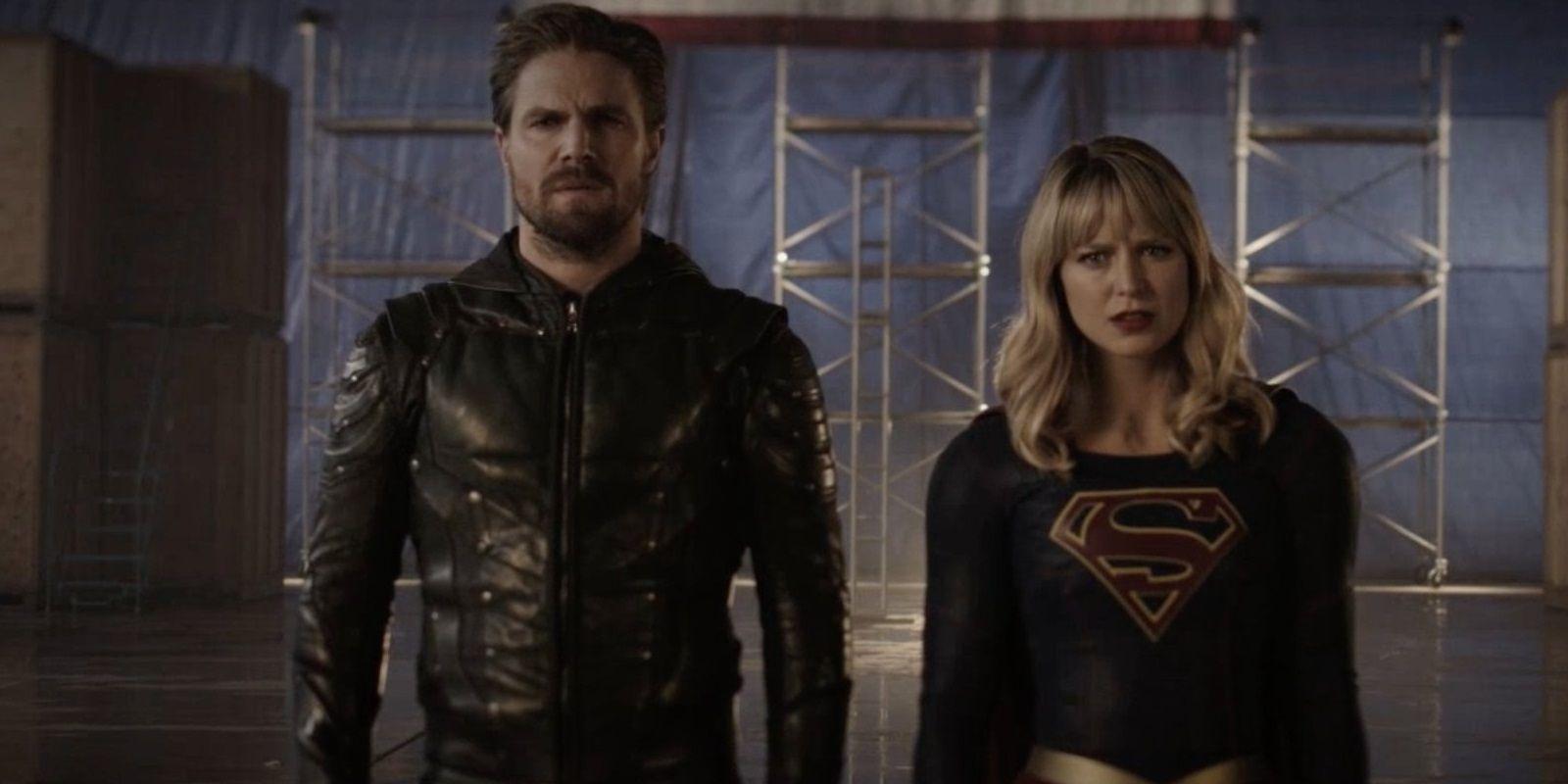 Crisis On Infinite Earths Image: Green Arrow & Supergirl ...