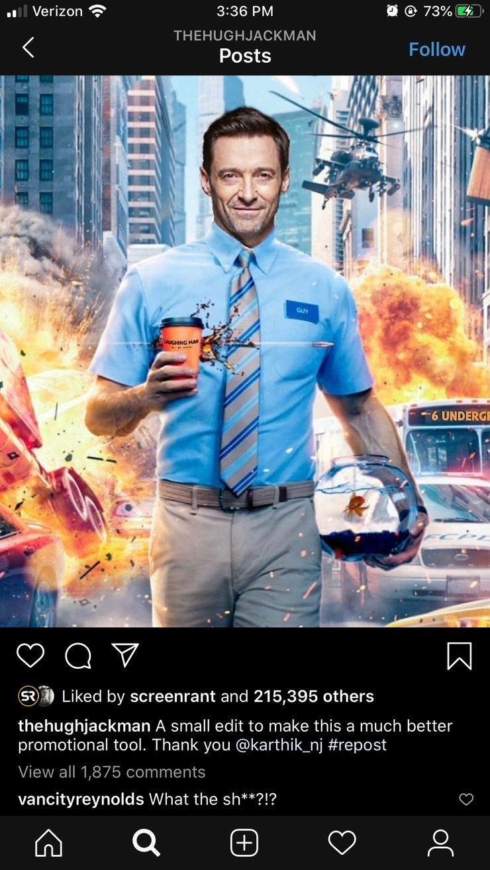 Hugh Jackman Replaces Ryan Reynolds In Free Guy Fan Art