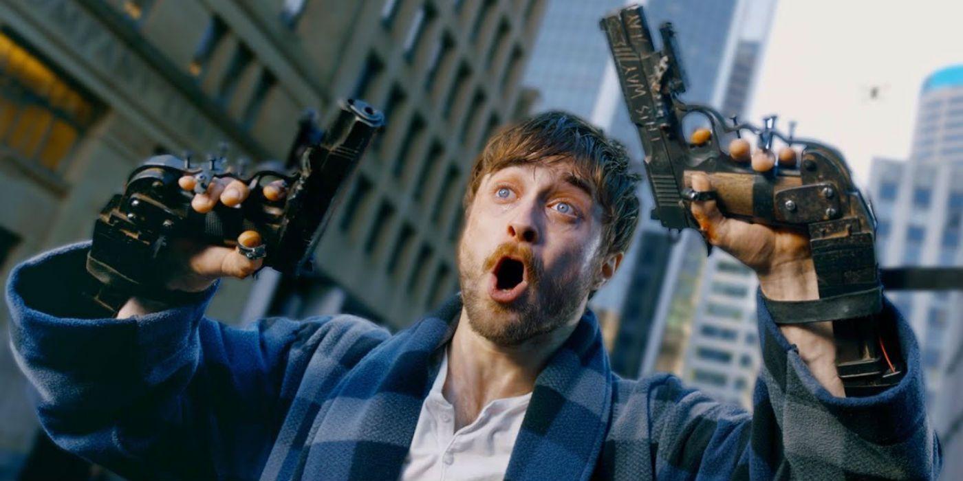 Daniel Radcliffe Has Guns for Hands In Guns Akimbo Movie Trailer