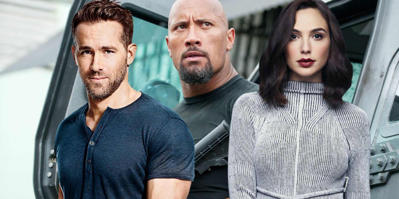 First Look At Dwayne Johnson's New Movie In Red Notice Set Photos