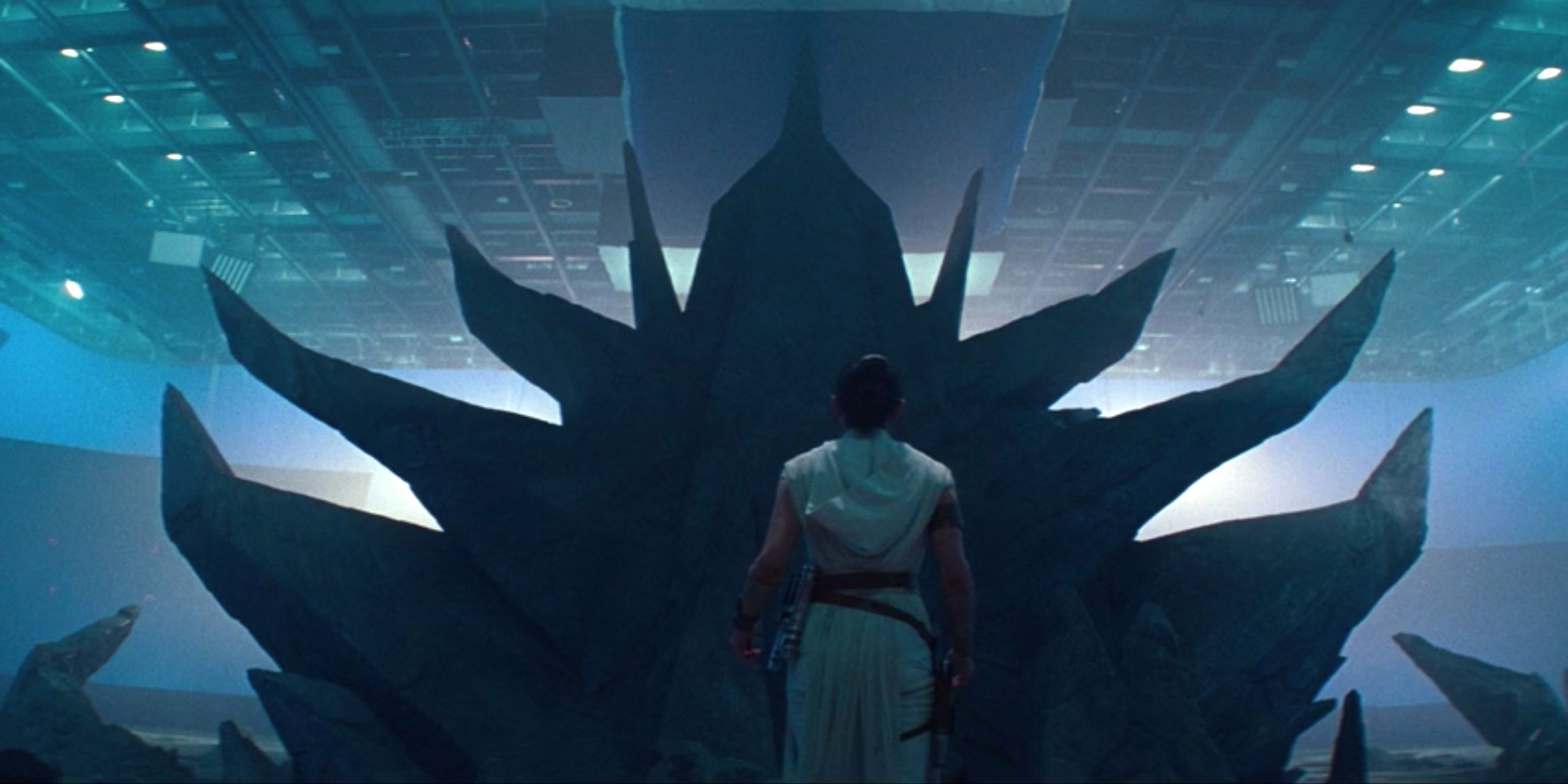 How Palpatine S Giant Throne Room Was Made For Rise Of Skywalker