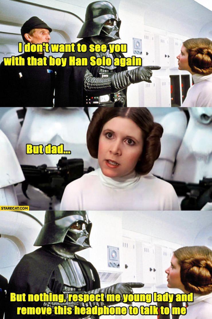 star wars prinzessin leia meme
