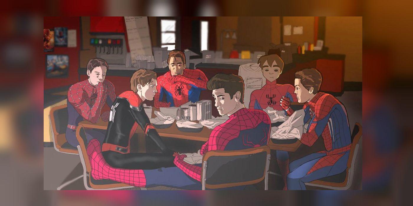 Live-Action Spider-Man (Plus Animated) Unite In Avengers Shawarma Scene