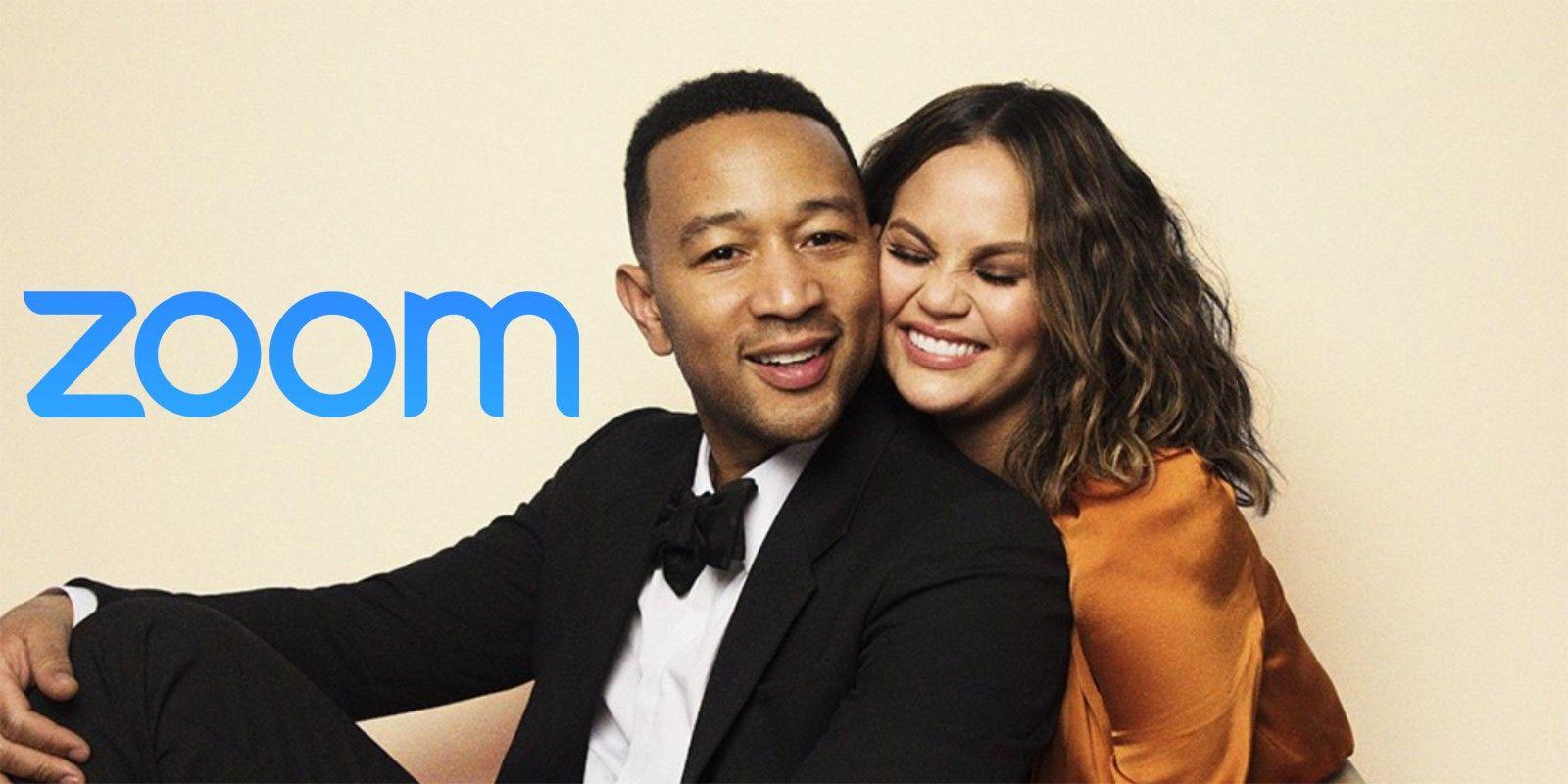 Chrissy Teigen & John Legend Join Fan's Zoom Birthday Bash