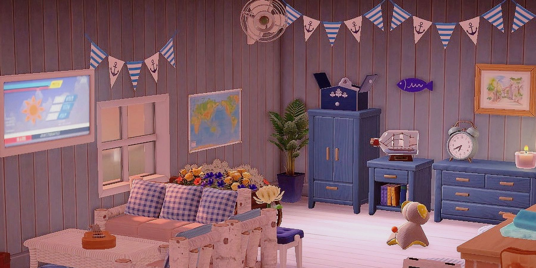 Interior Design Ideas & Tips in Animal Crossing: New Horizons on Living Room Animal Crossing New Horizons  id=65747