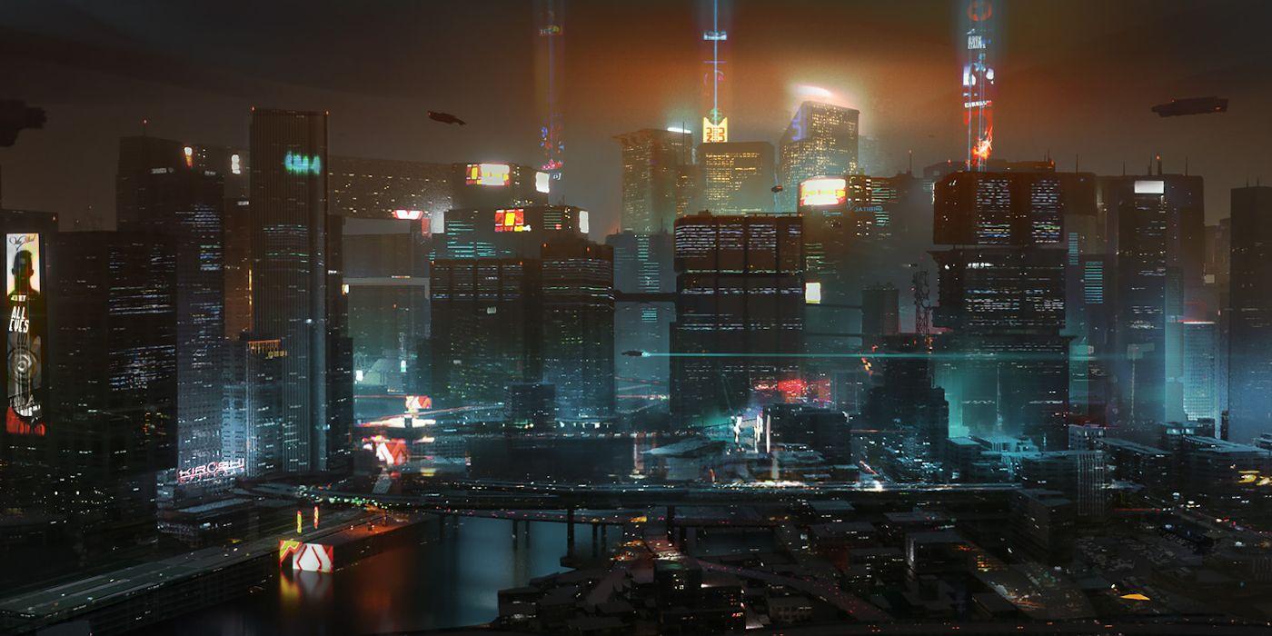 Cyberpunk 2077 World Map Shows Off Night City's Dense 15 ...