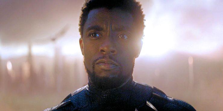 Chadwick Boseman as TChalla in Avengers Endgame