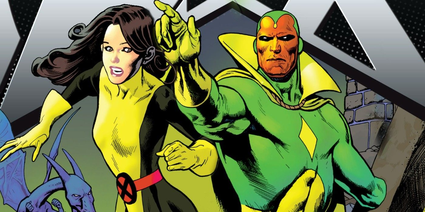 x-men characters, Kitty Pryde's ability to disrupt electronics puts the Vision at a disadvantage.