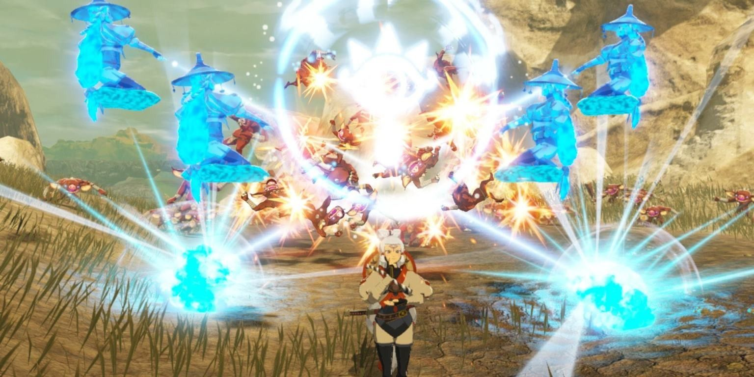New Hyrule Warriors Age Of Calamity Young Impa Gameplay Looks Wild