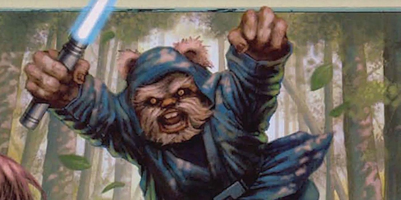Ewok Jedi Image.'