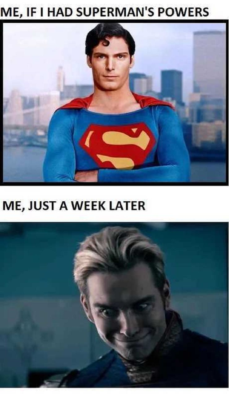 Image result for superman vs homelander meme