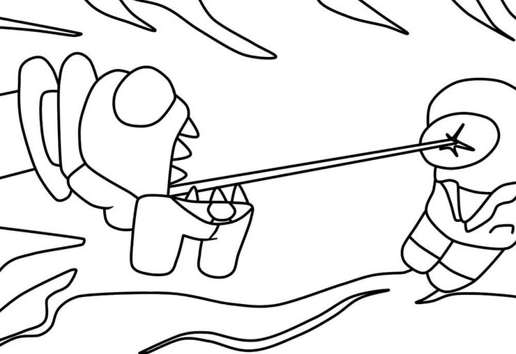 Best Among Us Coloring Pages Online Screen Rant