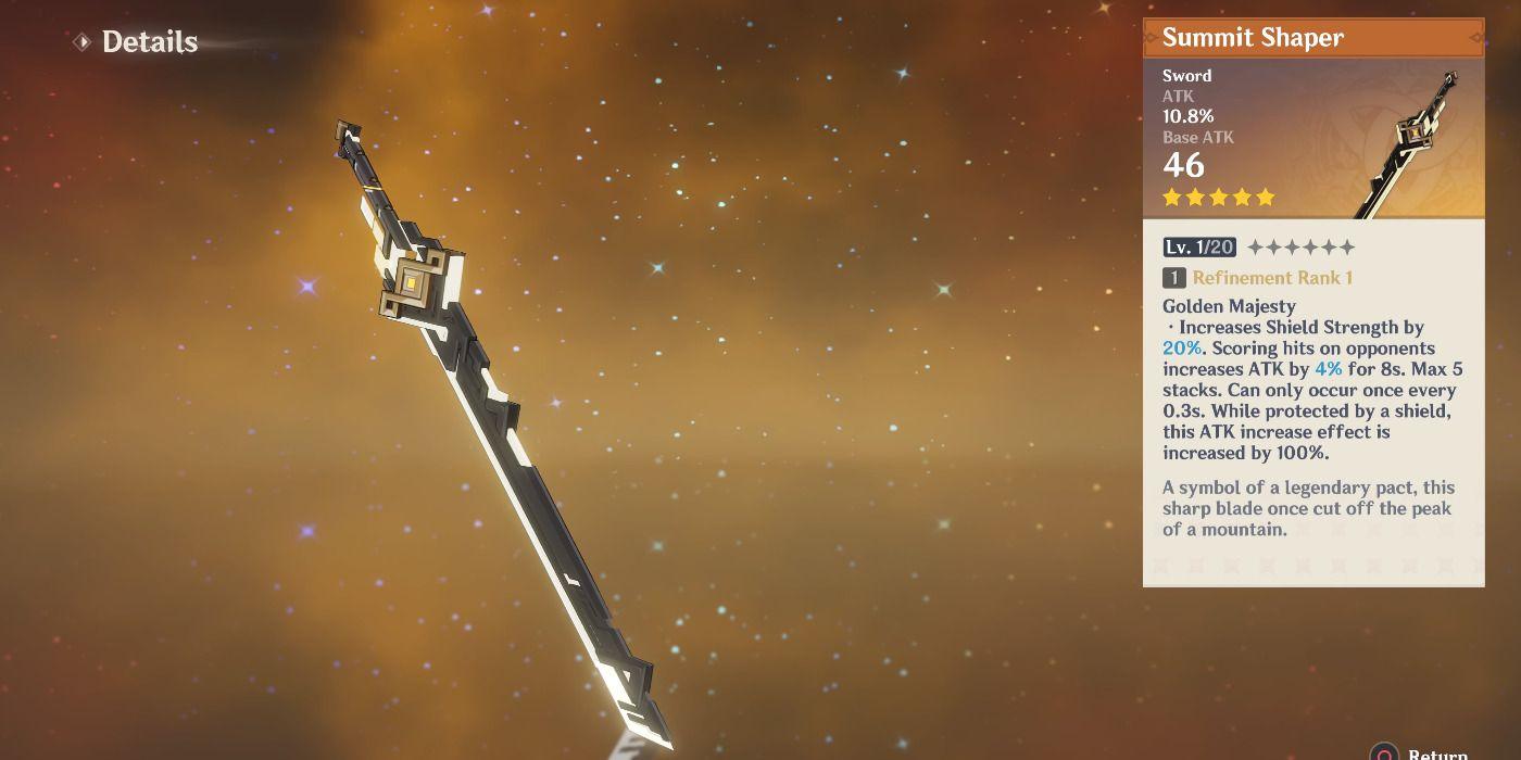 Genshin Impact: How to Unlock The Summit Shaper 5-Star Sword 2