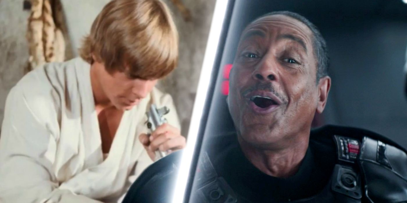 Mandalorian's Moff Gideon Makes Star Wars' Oldest Lightsaber Joke Canon