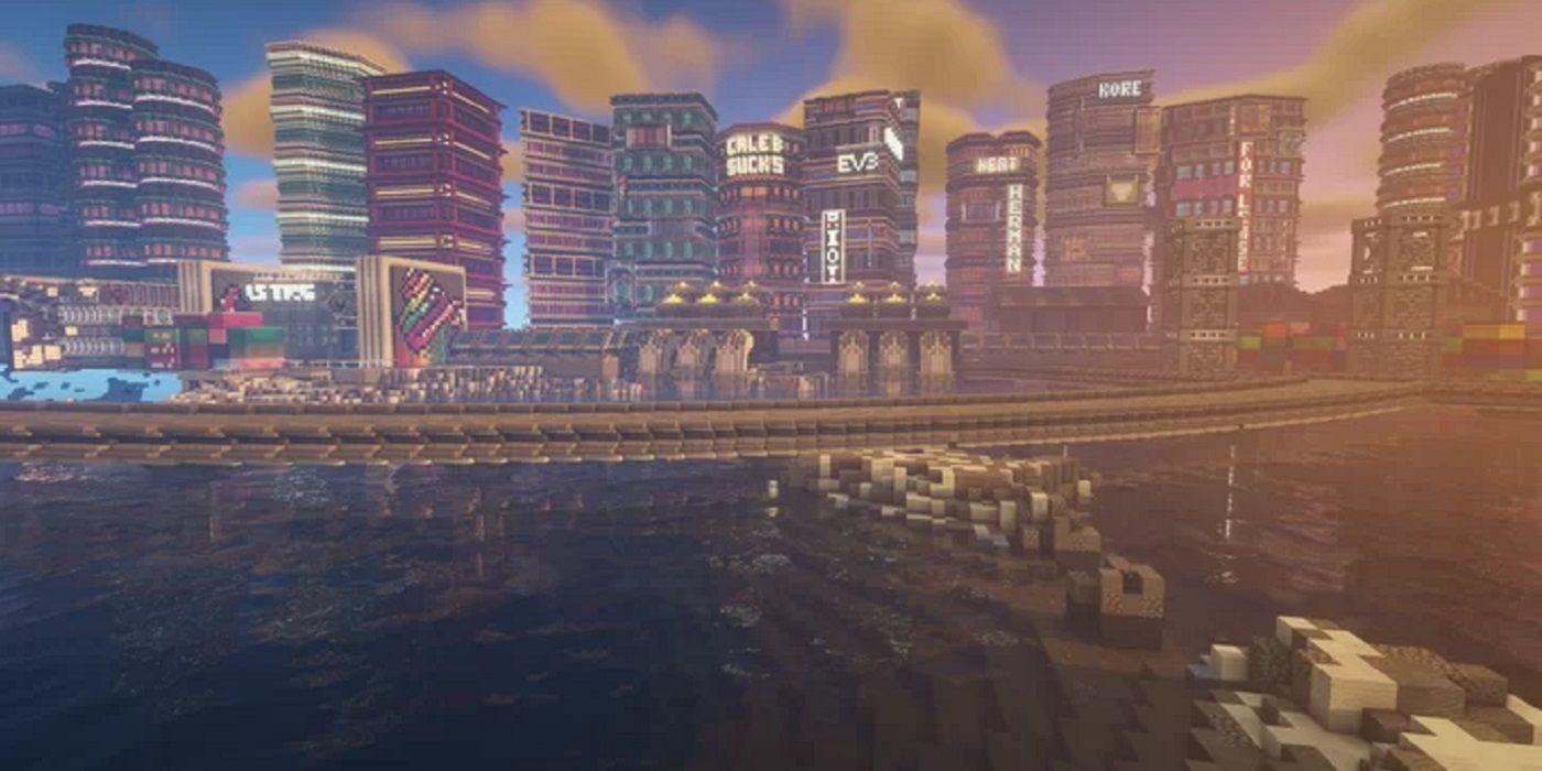 Incredible Cyberpunk Minecraft Build Looks Better Than Night City