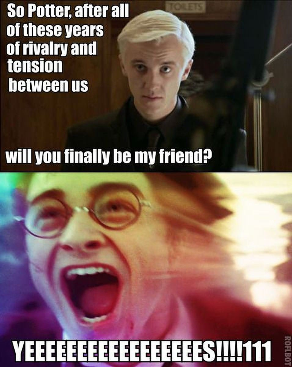 Harry Potter: 10 Hilarious Draco & Harry Memes | ScreenRant