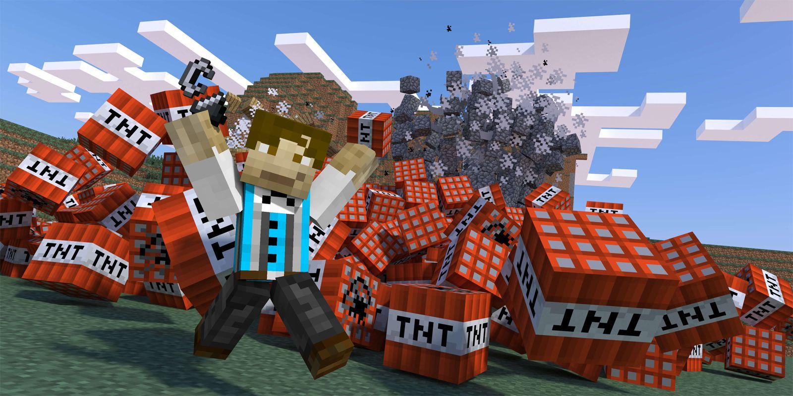 Minecraft Modder Creates TNT That Can Mine Tunnels Automatically