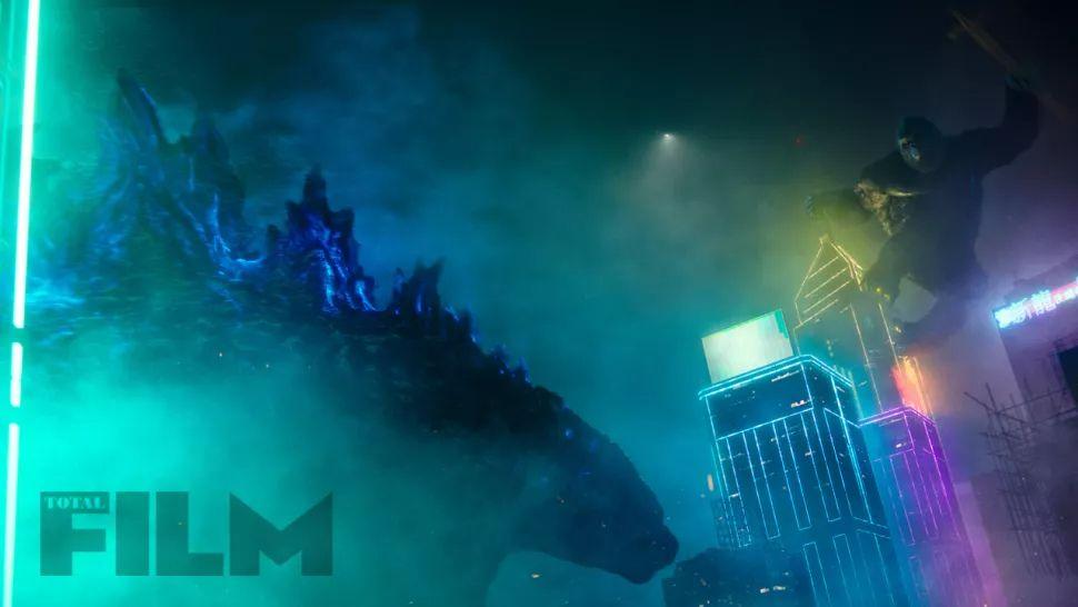 Imagens de Godzilla vs. Kong revelam novos olhares em néon na grande luta do filme 3
