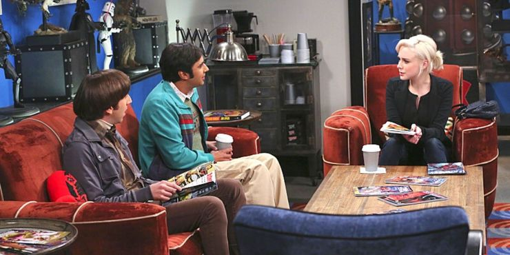 raj-and-howard-sit-with-claire-in-the-comic-book-store-on-the-big-bang-theory.jpg (740×370)