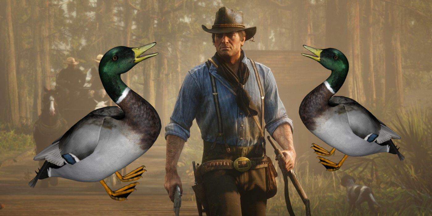 Red Dead Redemption 2 Features Ominous Hovering Duck In Glitch Video
