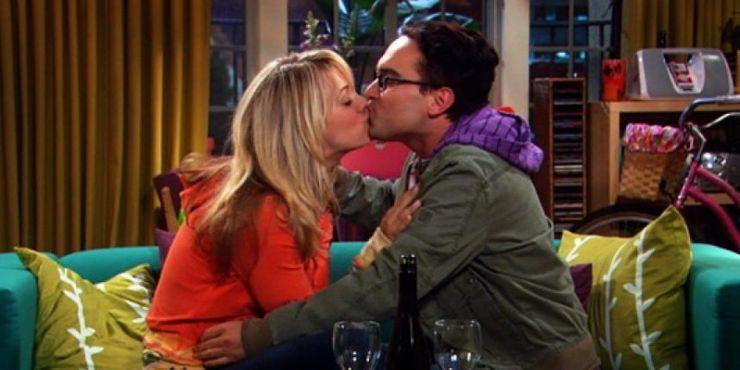 Penny and sheldon kiss