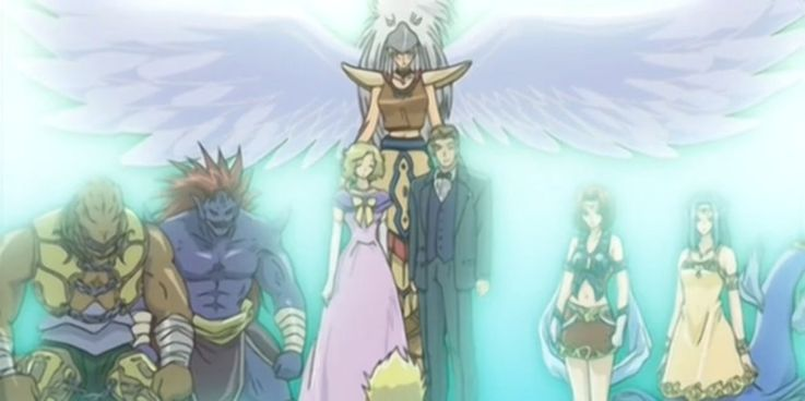 Yugioh Rafael's Guardians and family looking at him