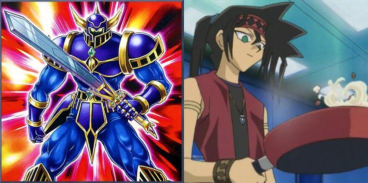 Yu-Gi-Oh!'s Duke Devlin and Orgoth The Relentless