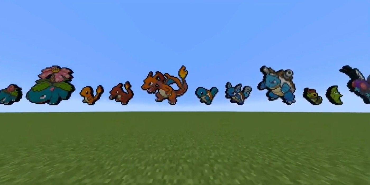 Minecraft Player Builds Beautiful Pokémon Sprite Models