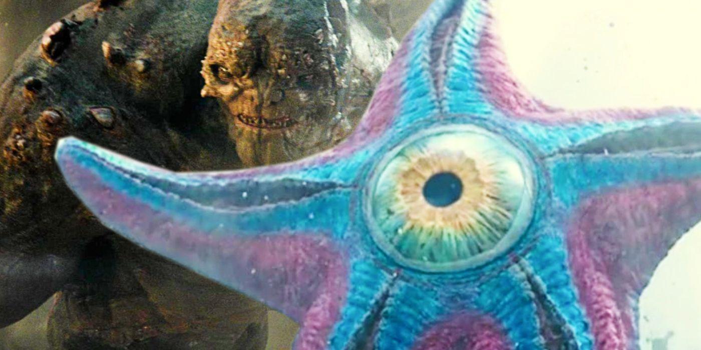 In Suicide Squad, the cosmic alien starfish, Starro The Conqueror, has mind control powers.