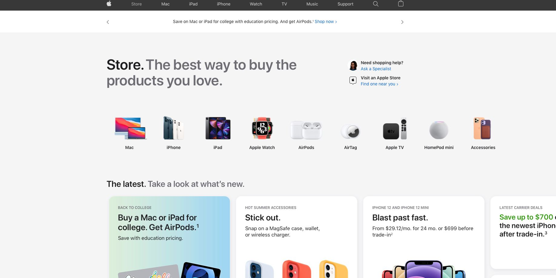 Here's Everything That's Changed With The New Apple Online Store