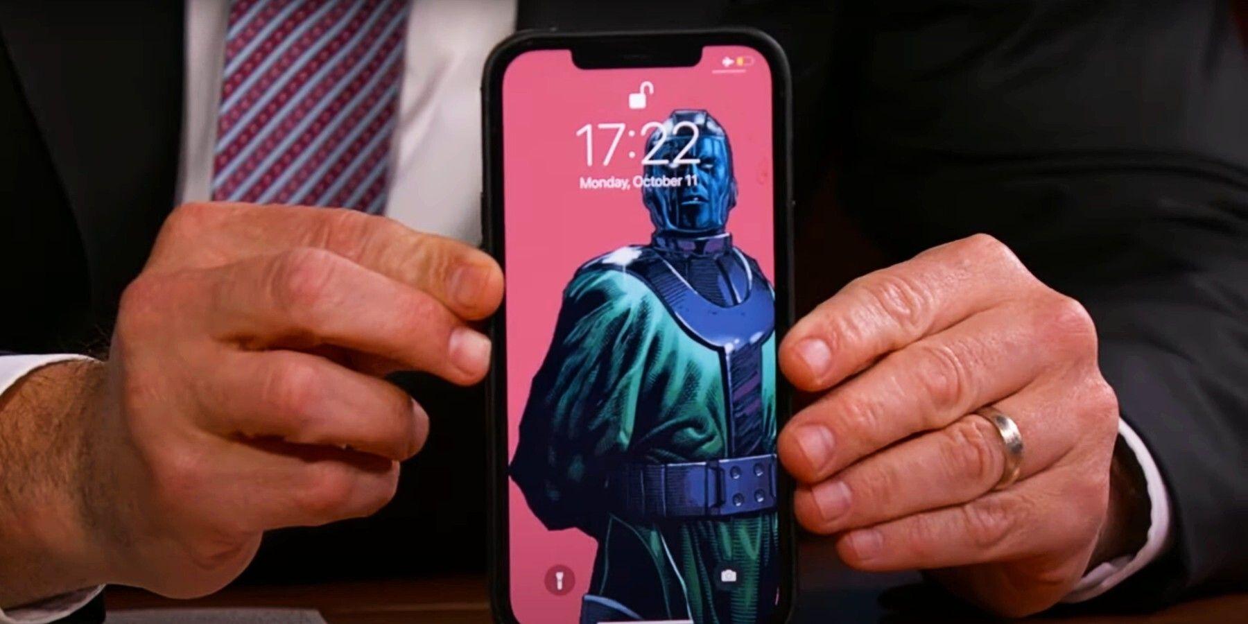 Loki Star Jonathan Majors' Phone Lock Screen Is Kang The Conqueror