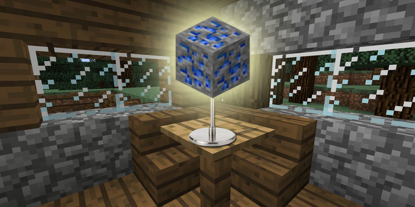 Minecraft Player Creates Homemade Ore Lamp In Real Life