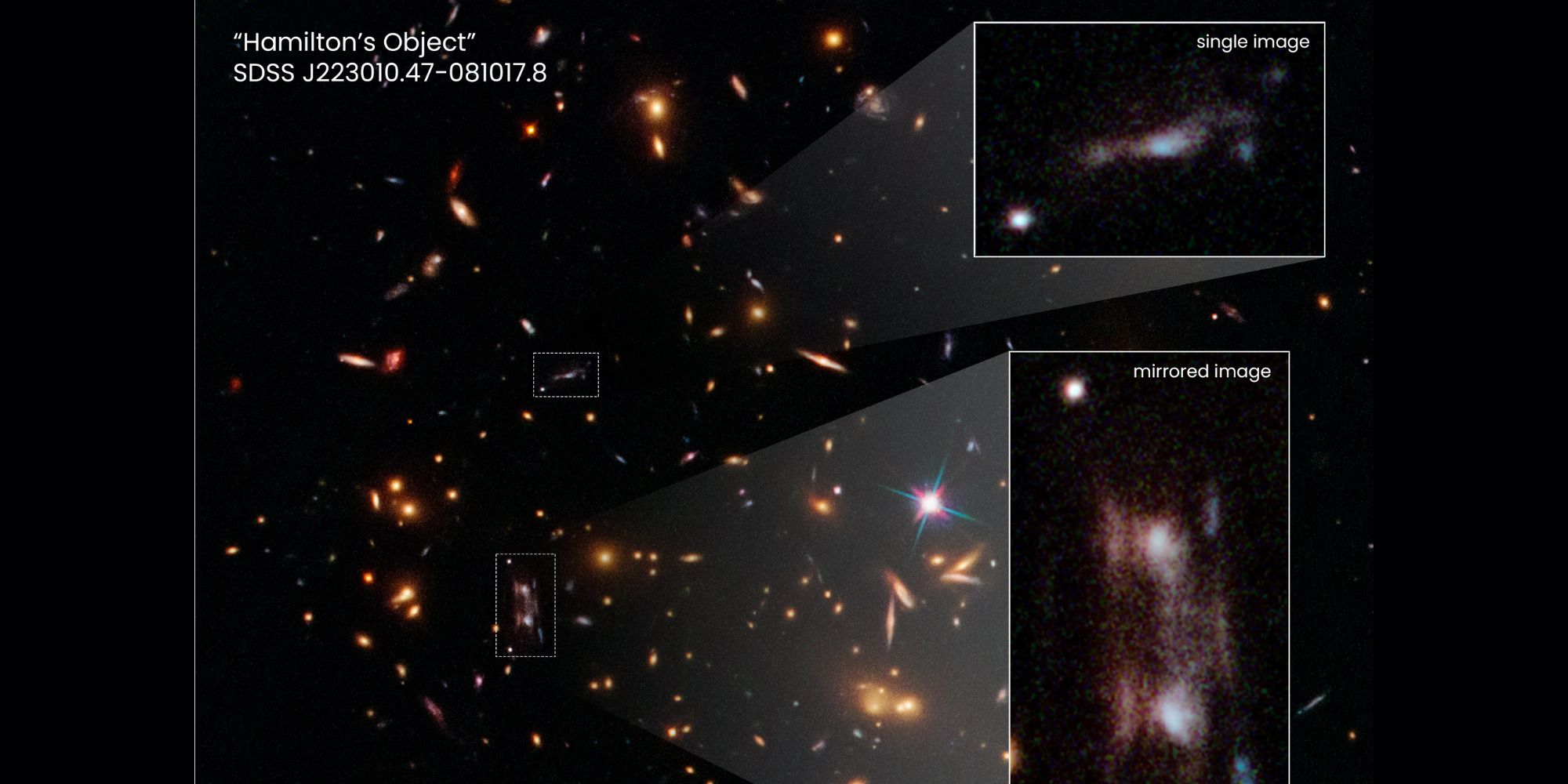 Astronomers  Stumped  Over Images Of Bizarre Double Galaxy