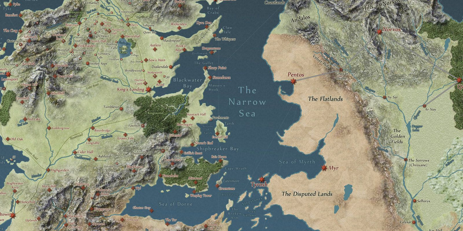 Game Of Thrones Interactive Map Understand The Known World