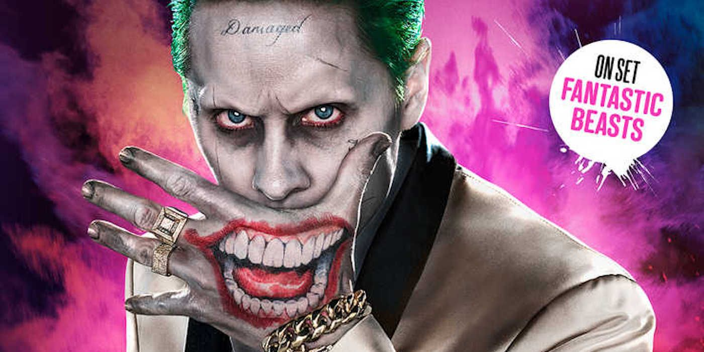 joker smiles on new suicide squad empire cover screenrant. Black Bedroom Furniture Sets. Home Design Ideas