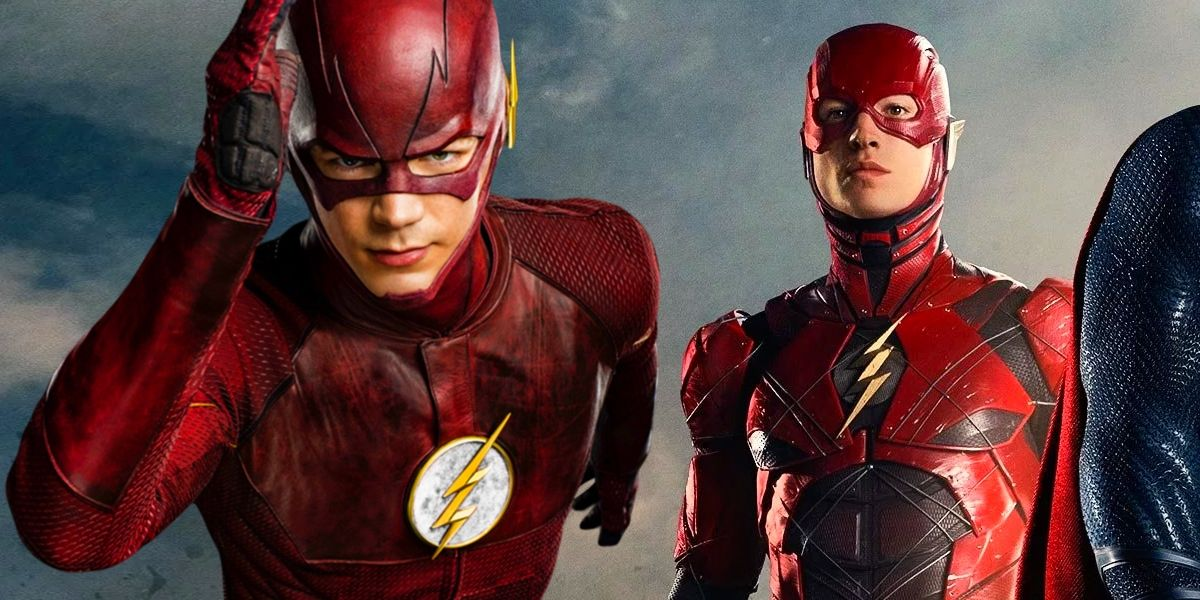 The flash ezra miller teases speed force meet up with grant gustin m4hsunfo Image collections